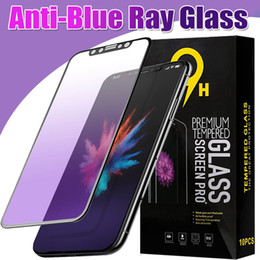 Wholesale Film Blue Ray - Anti Blue Ray 3D Curved Carbon Fiber Tempered Glass Screen Protector 9H Film For iPhone X 8 7 Plus 6 6S Samsung S7 A3 5 7 2017 With Package