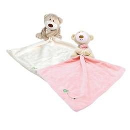 Wholesale baby bear sleeping - lovely Baby Sleeping Appease Blanket Toddler Baby Toys Cotton Bib Toy Bear Dolls Bebe Appease towel