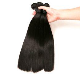 Fasci di capelli umani al 100% Tessuto a pelo lungo 3 pezzi Solo 8-26 pollici Extension di capelli neri naturali da