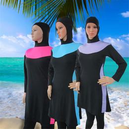 5ed95fbd12 Muslim Swimwear New Sunscreen Beach Style Modest Swimsuit Women Long Sleeve  With T-shirt Pants Caps Islamic Bathing Suit