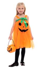 2019 kürbis prinzessin partei Shanghai Geschichte Halloween Prinzessin Kostüm Kürbis Hexe Cosplay Dress Up Kinder Kleidung Baby Mädchen Party Kleid Kinder Kleidung günstig kürbis prinzessin partei