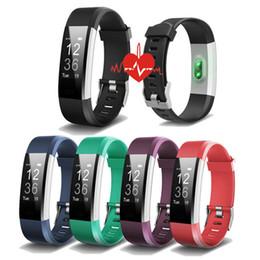 Rastreador de relógio de gps on-line-ID115HR PLUS Inteligente Pulseira Sports Freqüência Cardíaca Banda Inteligente de Fitness Rastreador Pulseira Relógio Inteligente GPS ID115 PLUS