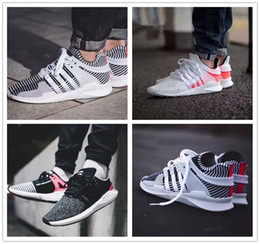Wholesale pink stripe fabric - EQT Support Future 93 96 16 Black White Stripe Zebra Women Mens Sports Running Shoes for red pink Army green Navy grey Casual Sneakers 36-45