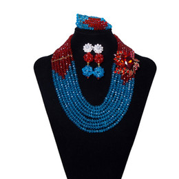 8 нитей фиолетовый синий нигерийские свадебные бусы африканские хрустальные бусины комплект ювелирных изделий свадебные бусы ювелирные изделия заявление ожерелье бесплатная доставка SH812- от Поставщики нигерийское синее ожерелье
