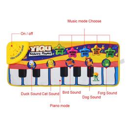 Canada New Infant Baby Piano Jouant Jouet Avec La Musique Drôle Et Des Sons D'animaux Rampant Mat Bay Enfants Cadeau Éducatif 72 * 29 cm supplier educational play mats Offre