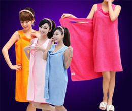 Canada Serviettes de bain magiques Lady Girls SPA Serviette de douche Enveloppement du corps Robe de bain Peignoir Beach Dress Serviette magique portable 8 couleurs Offre