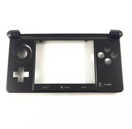 concha 3ds Desconto Original preto inferior quadro habitação shell tampa da caixa de substituição para nintendo 3ds consola de jogos peças