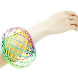 Wholesale Toys Plastics - Toroflux Flow Ring Toy Holographic Moving Creates Ring Flow Rainbow Toys Flow Rings For Children OOA4745