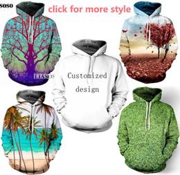 Новая мода пары мужчины женщины мужская одежда дерево листья цветок 3D печати толстовки свитер толстовка куртки пуловер топ TT259 от