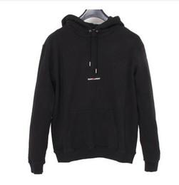 Argentina 2018 Marca de moda de lujo para hombre suéteres de diseño SLP saint Hoodies Logo Box Sudaderas mujer Pullover Fleece Top HipHop Sportswear Hoodie Suministro