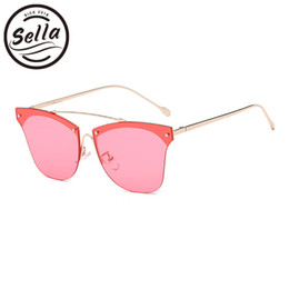 Sella 2018 Novas Mulheres Da Moda Oversized Quadrado Sem Aro Óculos De Sol  Senhoras Populares Designer de Marca Matiz Lente Gradiente Óculos de Sol e61f7c4d28