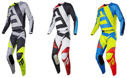 Wholesale Green Road - 2017 180 Gear Set Jersey + Pants Motocross Suit Off-Road Motorcycle Sportswear Suit MX ATV Bike Riders Clothes