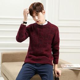 Wholesale Korean Mens Knits - Korean Designs Mens wool Sweaters harmont blaine Men's Pullover Male Dress Slim Fit Sweater kerst trui mannen sweater men XXL