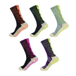 Wholesale Wearable Art - New Non-slip Professional soccer Socks towel 2018 wearable towel bottom elite training basketball football dual sports socks