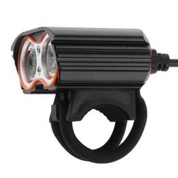 2019 bicicletta doppia Bicicletta Light 2000LM USB Dual T6 LED Lampada frontale per bicicletta Luce faro anteriore per bicicletta bicicletta doppia economici