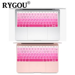 """Macbook pro letras online-US Layout Korean Letters Silicona Keyboard Skin para Macbook 12 """"A1534 Keyboard Cover para MacBook Pro 13 Non Touch Bar A1708"""
