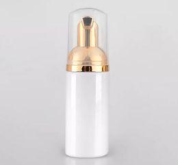 50 мл белая пенящаяся бутылка пенящаяся золотая помпа для мыла пластиковая бутылка для лотоса от