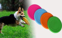 frisbee di plastica animale domestico Sconti Resistente Pieghevole in silicone Pieghevole Fantastico Pet Dog Flying Flying Training Game multifunzionale Pieghevole Pet 5 colori