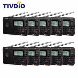 minuterie de lecteur mp3 Promotion 10pcs TIVDIO V-115 Récepteur radio à ondes courtes FM / AM avec lecteur MP3 Enregistrement enregistreur Minuterie de sommeil F9205A