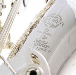 Canada Brand New Silver Sated SELMER 802 Saxophone Alto 80 II Jubilé modèle 52 - Navires gratuits dans le monde entier Offre