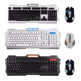 Wholesale Professional Mouse Pads - Professional Wired RGB Backlight Mechanical USB Gaming Keyboard + Mouse + Mouse Pad Mechanical touch keybaord mouses suit