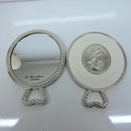 2019 sac d'emballage pour cosmétiques LADUREE Les Merveilleuses miroir de poche miroir à main support métallique vintage pochette cosmétiques sac d'emballage pour cosmétiques pas cher