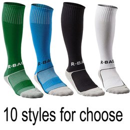 Wholesale Martial Arts Outfit - Boys & Girls Outfits Compression Long Sport Knee High Football & Soccer Socks For Youth Gifts 10 Styles Support FBA Drop Shipping G496Q