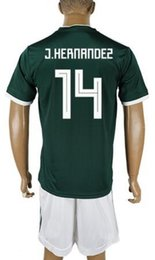 Wholesale Wholesale Mexico - Customized Mexico new men 14 J.HERNANDEZ Soccer Jerseys Sets,discount 16 H.HERRERA Chicharito 18 A.GUARDADO 15 MORENO 17 LOPEZ Soccer Wear