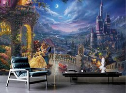 bedroom materials Coupons - European Retro Living room Bedroom 3d Background Cartoon Castle The Dining industry Decorates The Backdrop