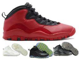 Scarpe sportive marche cina online-Scarpe da pallacanestro economici 10 Scarpe da donna da uomo rosse 10s X da donna Sport Donna Femme Homme da ginnastica di marca per la vendita di scarpe