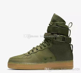 Wholesale Mens Casual Black Leather Boots - New 2017 Special Forces Force Racers Field SB 1 F One Boots Black Gum Light Brown 859202 009 Mens Womens Sport Athletic Trainers size 36-45