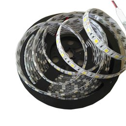 Wholesale ribbon leds - DC12V LED Strip Lights 5050 SMD Warm White Red Green Blue RGB Flexible strip 5M Roll 300 Leds Ribbon Waterproof Non-waterproof