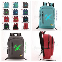 Wholesale backpacks for college students - 10pcs 42*29*11cm Fortnite Battle Royale shool Backpack for Teenagers Casual Laptop Boys Student School Bag Notebook backpack MMA225