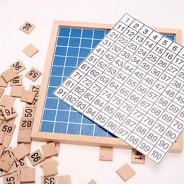 Educazione Montessori Giocattoli di legno 1-100 cifre Matematica cognitiva Giocattolo Insegnamento Logaritmo Versione Bambino regalo di apprendimento precoce da generatori di potenza all'ingrosso fornitori