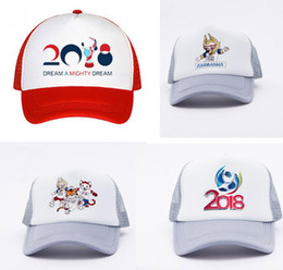 Wholesale Hat World Cup - 11 colors 2018 World Cup Design caps 4 style Russia Fifa World Cup hats basketball baseball casquette