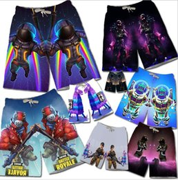 Wholesale men cosplay costume - Fortnite Shorts men teenager Summer 3D Print Beach Shorts Cosplay Costumes Casual Shorts Pants Summer Clothing KKA5565