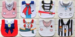 Wholesale shaped bibs - 8 color INS Baby cotton bibs Infant triangular girls boys dress shape bib waterproof baby saliva towel
