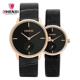 Вторая рука мужские часы онлайн-CHENXI Mens Watches Top  Leather Watchband Hand Clock With Second Dial High Quality Fashion Male Gift Hour NATATE