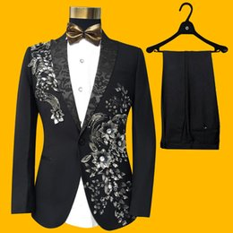 Wholesale theatrical dresses - Men's Suits Sets Theatrical Costumes Host Costumes Wedding Dresses Groom's Clothing