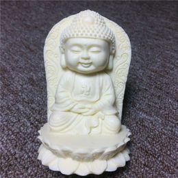 Marfil Seiko talla 9 * 6 * 4.5 cm Xiaomeng Buda colgando adornos artesanales de escritorio de interior desde fabricantes