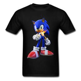 Wholesale men s fashion rings - 2018 Sonic Hedgehog The Secret Rings 3D T Shirt For Men Hip Hop Fashion Black Tops Tees Graphic Game Tshirt Mens Streetwear