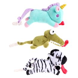 Wholesale Fed Plush - Baby Boy Girl Dummy Pacifier Clip Feeding Plush Animal Toy Soother Nipples Holder