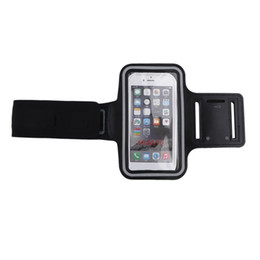 Wholesale Neoprene Sport Arm Bands - Waterproof Sports Running Jogging GYM Armband Arm Band Belt Case Cover Holder for i6 4.7'' Mobile Phone with Key Holder