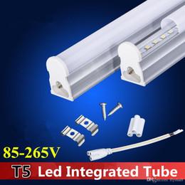 светодиодные лампы накаливания Скидка Т5 1.2 м интегрированный пробка 4ft 22 Вт 2 фута 3 фута Сид свет пробки Сид 96pcs SMD 2835 светодиодные люминесцентные лампы 4 фута трубы теплый natrual холодный белый ac85-265В