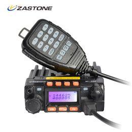 Wholesale Vhf Mobile Radios - Zastone MP300 25W Car Walkie Talkie 10km Dual Band VHF UHF Mini Mobile Radio Transceiver CB Ham Radio Station