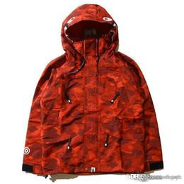Wholesale Popular Coats - Newest Popular Camouflage Men's Hoodies Windbreaker Hoodies Fashion Cardigan Leisure Coat Popular Brand Japanese Lapel High Qualiy Hood