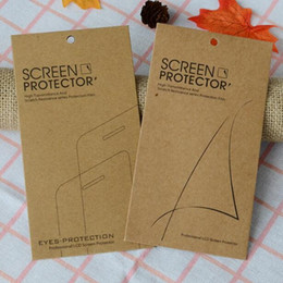 Wholesale iphone screen protector bag - Kraft paper Retail Package Box Pack Bag For Tempered Glass Screen Protector for iPhone X 8 7 6 Plus Samsung S8 S9 Plus S7 Edge