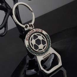 2019 apri di tazza World Cup Calcio Keychain creativo mascotte metallo apribottiglie rotante calcio portachiavi apri pendente regali WX9-286 apri di tazza economici