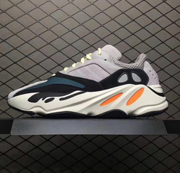 Wholesale women runners - Wave Runner 700 Boost Shoes Solid Grey White Orange OG B75571 WaveRunner Men Women Running Shoes With Boost Bottom and 3M Material