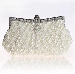 seitliche kupplungskettenbeutel Rabatt Zweiseitige Perle Abendtasche Hot Luxury Womens Party Clutch Kette Geldbörse Hochzeit Braut Taschen Vintage Hobos Handtaschen Mode